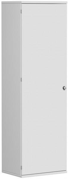Garderobenschrank mit ausziehbarem Garderobenhalter, 60x42x192cm, Lichtgrau