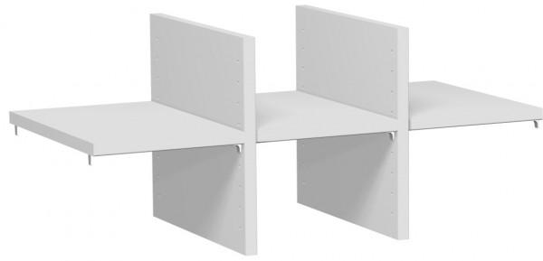 Regalausfachung für 1 OH, für Korpusbreite 80 cm, Lichtgrau