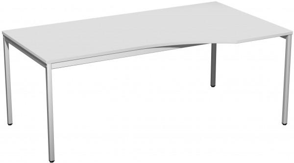 PC-Schreibtisch rechts, 180x100cm, Lichtgrau / Lichtgrau
