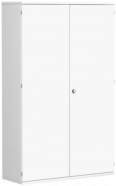 Garderobenschrank mit ausziehbarem Garderobenhalter, 120x42x192cm, Weiß