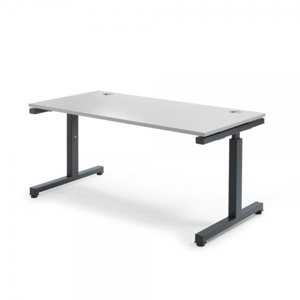 Schreibtisch Rechteck Comfort MULTI 2.0 160x80x68-82 cm