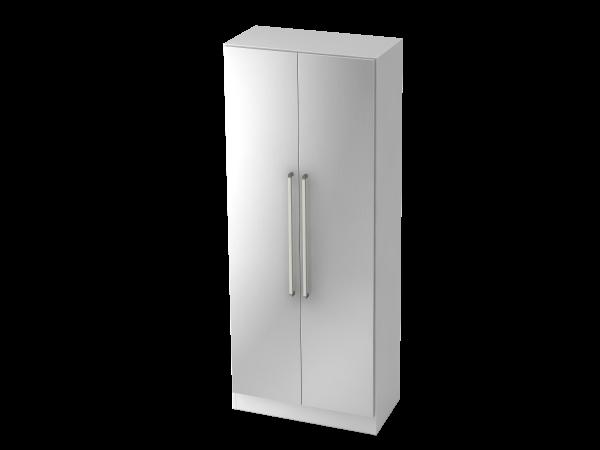 Garderobenschrank 5 Ordnerhöhen, CE Weiß / Silber