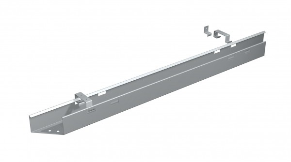 Kabelkanal zur Befestigung an der Tischplatte, 200cm, Silber