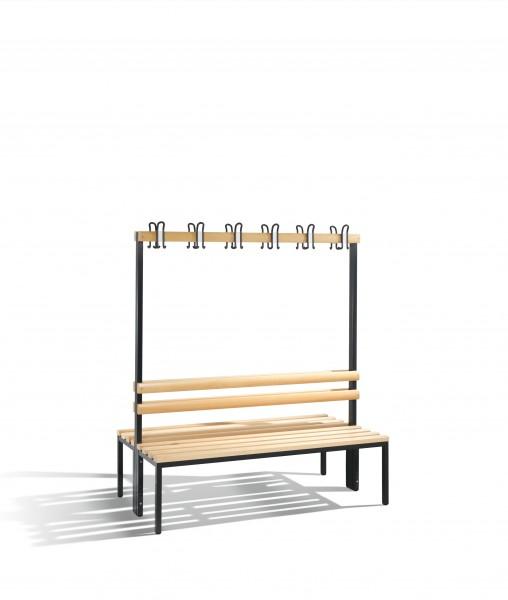 Doppelseitige Garderobenbank Basic, 165x150x75cm