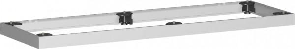 Metallsockel, Auswahl entsprechend Schrankbreite, 160x5cm, Silber