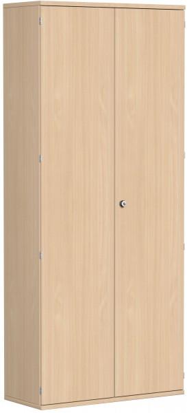 Garderobenschrank mit ausziehbarem Garderobenhalter, 100x42x230cm, Buche