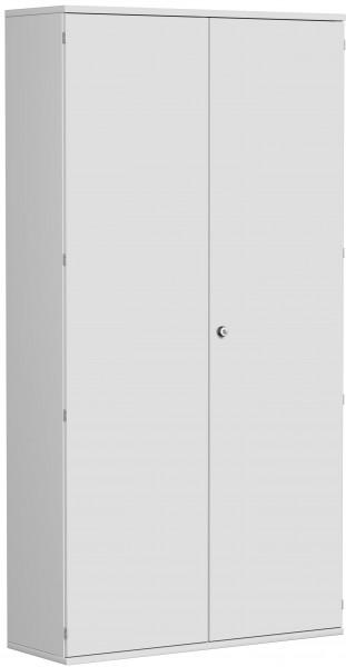 Garderobenschrank mit ausziehbarem Garderobenhalter, 120x42x230cm, Lichtgrau