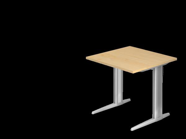 Schreibtisch C-Gestell 80 x 80 cm