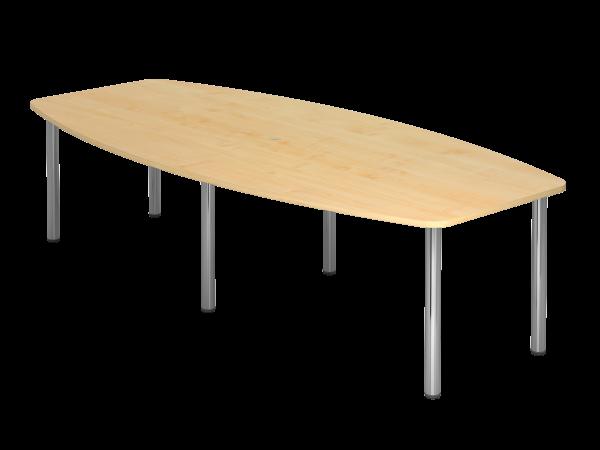 Konferenztisch 6-Fuß Gestell 280 x 130 cm