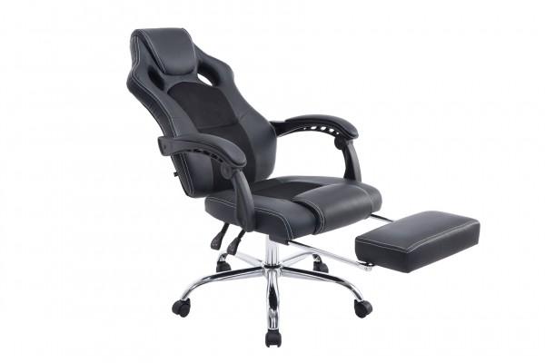 Bürostuhl Energy mit Fussablage, schwarz/schwarz
