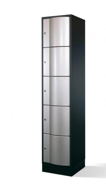 Schließfachschrank Resisto, 5 Fächer, 195x40x54cm
