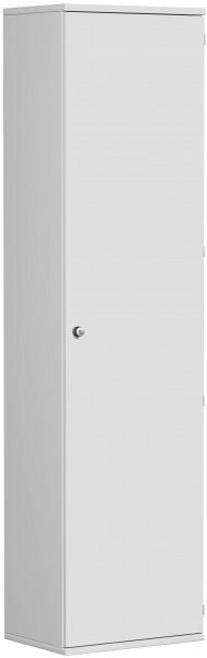 Garderobenschrank mit ausziehbarem Garderobenhalter, 60x42x230cm, Lichtgrau
