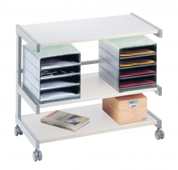 Bürowagen mit 2 Ablageboxen 81 x 43 x 67 cm