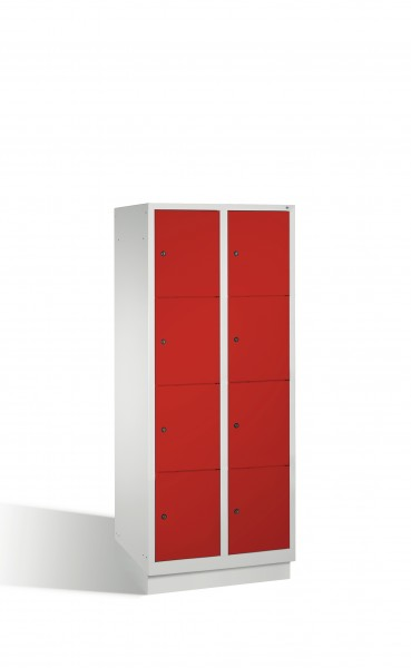 Fächerschrank Classic auf Sockel, 8 Fächer, 180x81x50cm