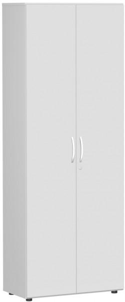 Garderobenschrank mit ausziehbarem Garderobenhalter, 80x42x216cm, Lichtgrau Lichtgrau
