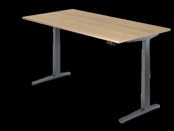Sitz-Steh-Schreibtisch elektrisch 200 x 100 cm Eiche / Graphit