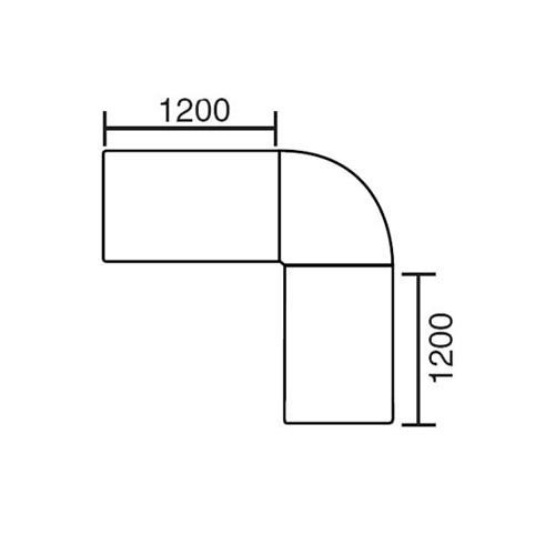 SET Winkelkombination rund MULTI M 200x200x74 cm