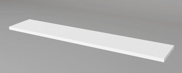 Thekenkonfigurator Empfangstheke Atlantis optionaler Aufsatz Weiß / Glas