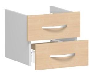 Schubkasteneinsatz für Korpusbreite 40 cm, 1 Ordnerhöhe, Buche