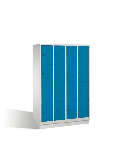 Fächerschrank Classic auf Sockel, 16 Fächer, 180x119x50cm