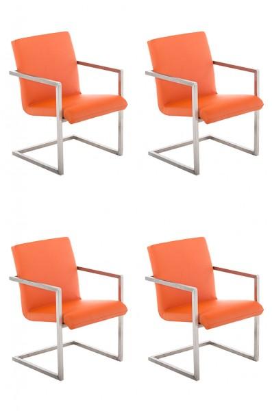 4er Set Besucherstuhl Java, orange