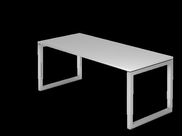 Schreibtisch O-Fuß eckig 180 x 80 cm