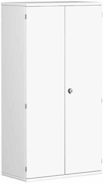Garderobenschrank mit ausziehbarem Garderobenhalter, 80x42x154cm, Weiß