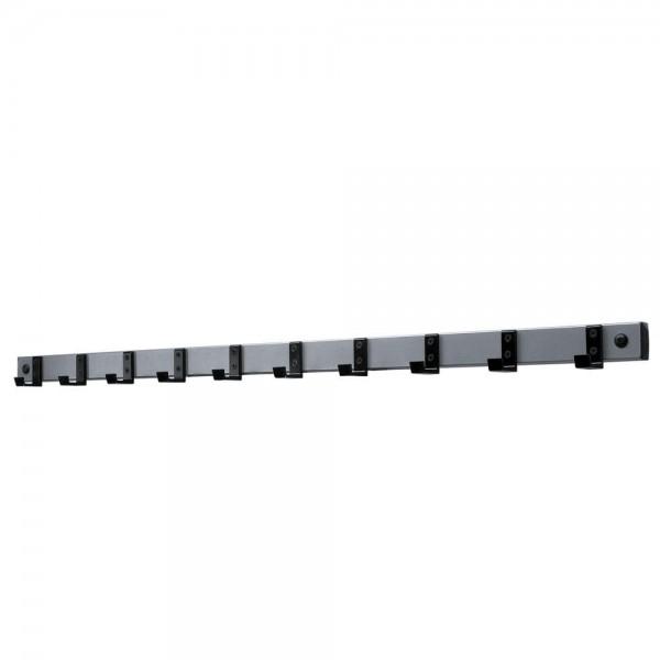 Wandgarderobenleisten mit 10 Haken Länge 100 cm, Höhe 5 cm, Tiefe 5 cm