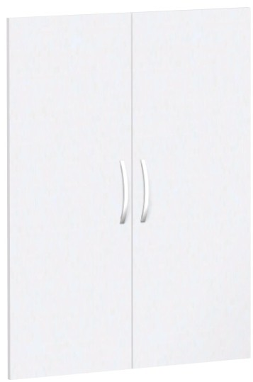 Flügeltürensatz für Korpusbreite 80 cm, 3 OH, Weiß