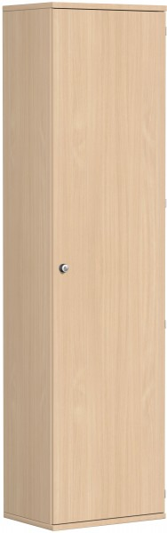 Garderobenschrank mit ausziehbarem Garderobenhalter, 60x42x230cm, Buche
