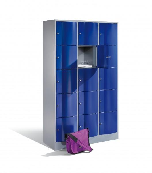 Schließfachschrank Resisto, 15 Fächer, 195x115x54cm