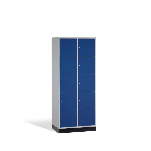 Schließfachschrank Intro XL, 10 Fächer, 195x82x60cm