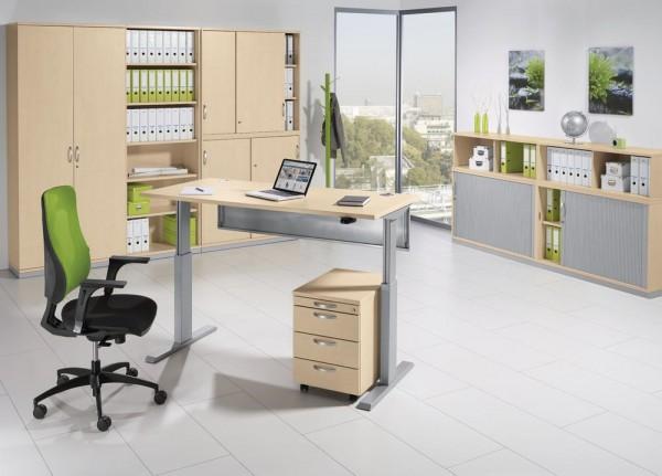 Sitz-/Stehschreibtisch BASIC MULTI M pro 160 x 80 x 72,5-118,5 cm
