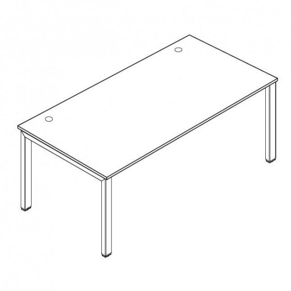 Schreibtisch 4-Fuß BASIC MULTI M 160 x 80 cm Weiß