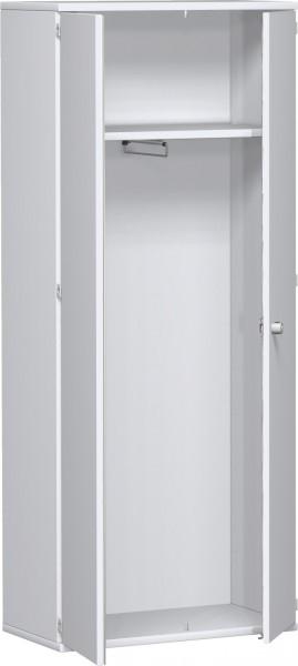 Garderobenschrank mit ausziehbarem Garderobenhalter, 80x42x192cm, Weiß