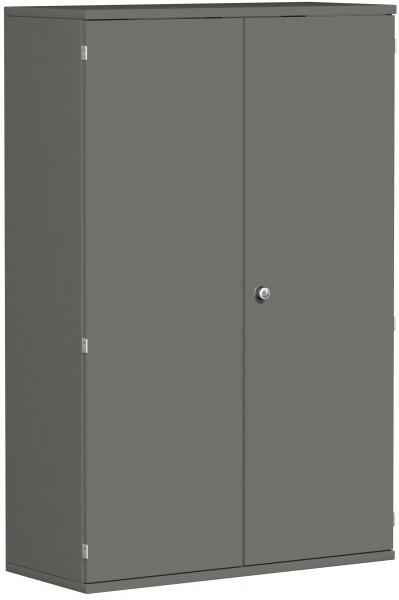 Garderobenschrank mit ausziehbarem Garderobenhalter, 100x42x154cm, Graphit