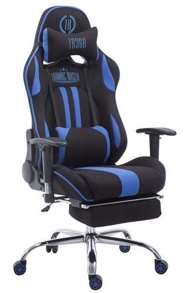 Racing Bürostuhl Limit Stoff mit Fußablage , schwarz/blau