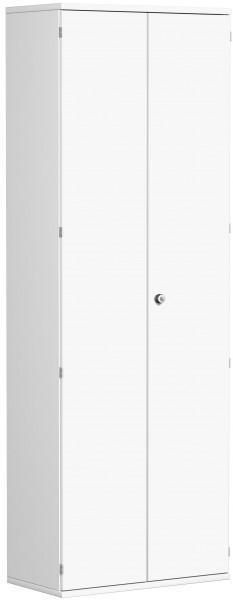 Garderobenschrank mit ausziehbarem Garderobenhalter, 80x42x230cm, Weiß