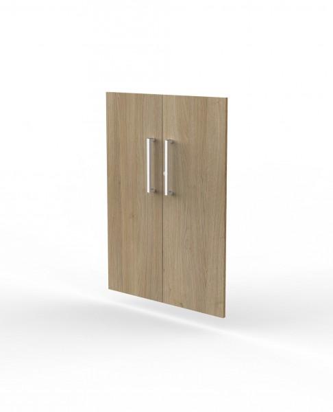 Vorbautüren für Einzelregal, Abschließbar, 3 OH, Eiche