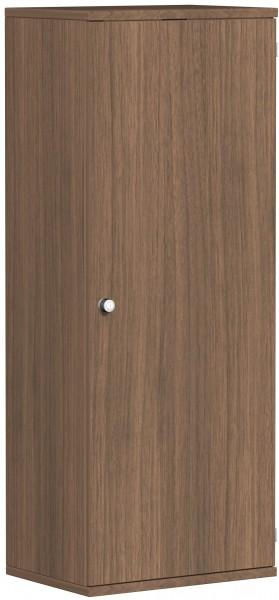 Garderobenschrank mit ausziehbarem Garderobenhalter, 60x42x154cm, Nussbaum