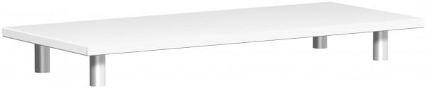 Aufsatzplatte, 100x42x11cm, Weiß