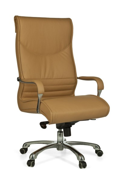 MILANO Bürostuhl, Schreibtischstuhl, höhenverstellbar, Kunstleder Caramel