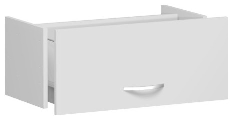 Hängeregistraturschublade für Korpusbreite 80 cm, 1 Ordnerhöhe, Lichtgrau