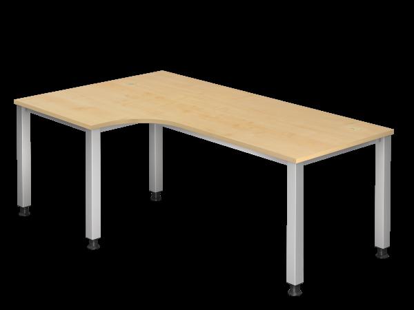 Winkeltisch 90° 4-Fuß eckig 200 x 120 cm