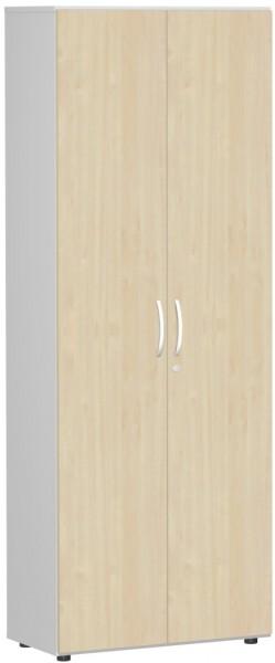 Garderobenschrank mit ausziehbarem Garderobenhalter, 80x42x216cm, Ahorn Lichtgrau