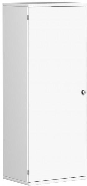 Garderobenschrank mit ausziehbarem Garderobenhalter, 60x42x154cm, Weiß