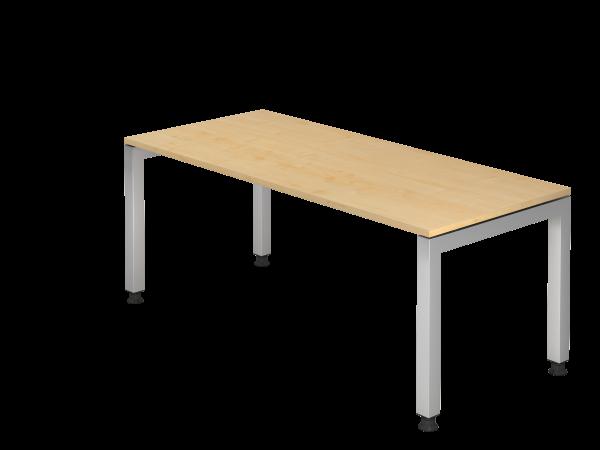 Schreibtisch U-Fuß eckig 180 x 80 cm