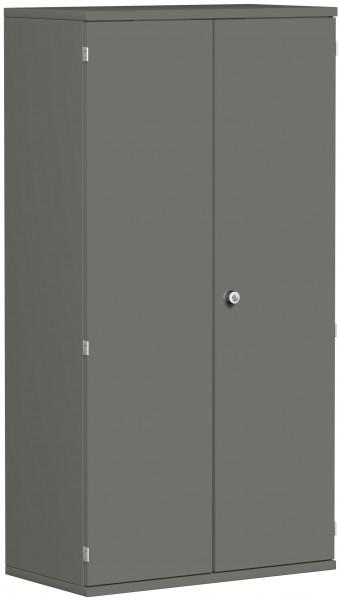 Garderobenschrank mit ausziehbarem Garderobenhalter, 80x42x154cm, Graphit