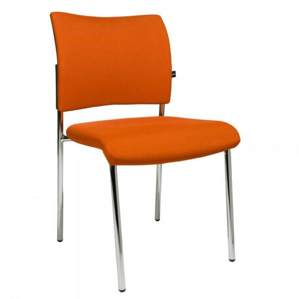 Besucherstuhl LAS VEGAS Bezug Stoff Basic G, orange