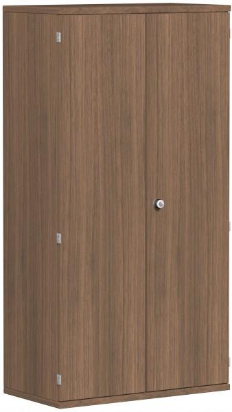 Garderobenschrank mit ausziehbarem Garderobenhalter, 80x42x154cm, Nussbaum